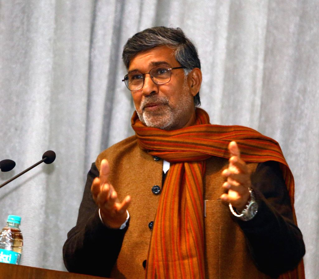 The Nobel Peace Laureate for 2014, Kailash Satyarthi delivers a special lecture on Child Rights Movement at the Central Training Division of Controller of Defence Accounts, in New Delhi on