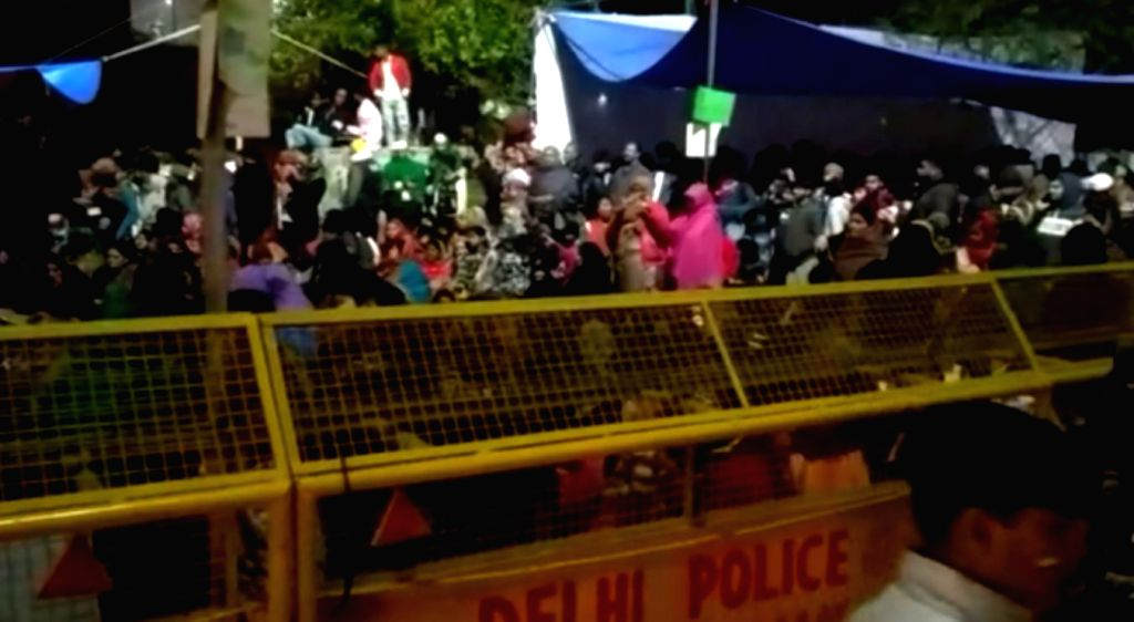 New Delhi: The site at Delhi's Nizamuddin area where around 500 people have gathered, set up tents and are camping here since Sunday, to protest against the Citizenship Amendment Act (CAA) 2019, National Register of Citizens (NRC) and National Popula
