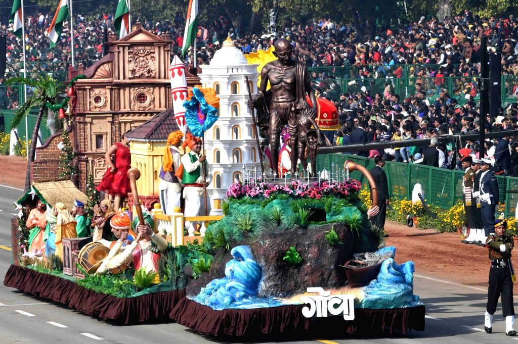 New Delhi: The tableau of Goa during 2019 Republic Day Parade at Rajpath in New Delhi on Jan 26, 2019. (Photo: IANS/RB)
