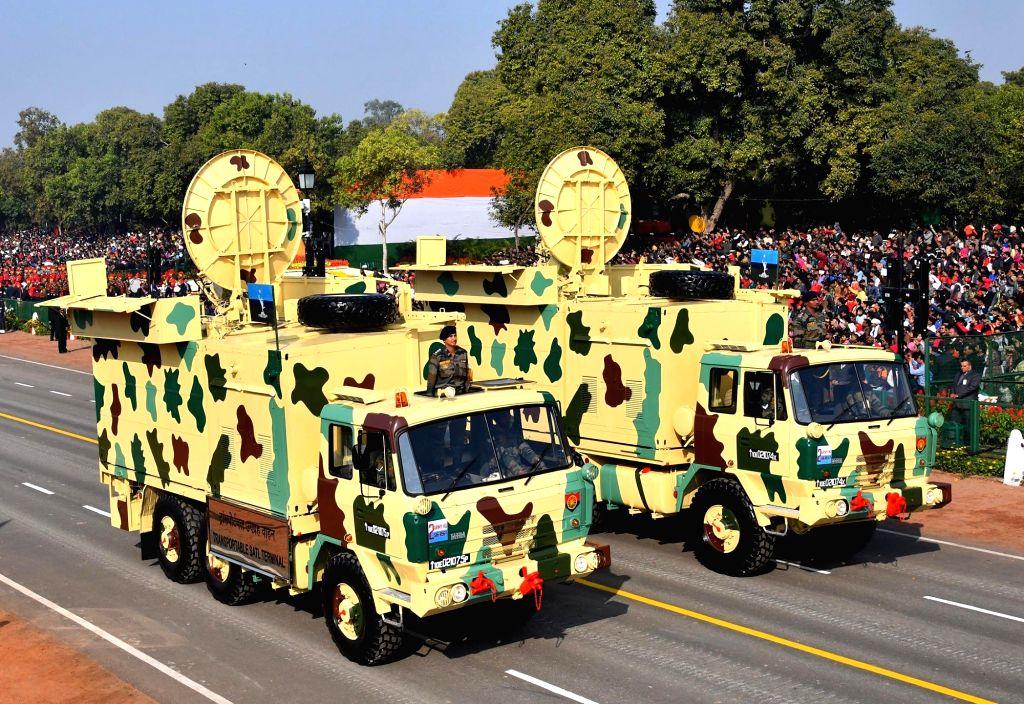 New Delhi: The Transportable Satellite Terminal during 2019 Republic Day Parade at Rajpath in New Delhi on Jan 26, 2019. (Photo: IANS/PIB)