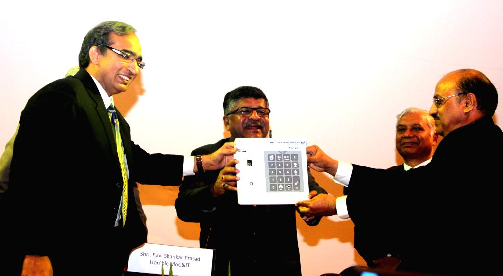 The Union Minister for Communications and Information Technology and NJP leader Ravi Shankar Prasad at the inauguration of a programme organised on Good Governance Day at Manekshaw Centre .