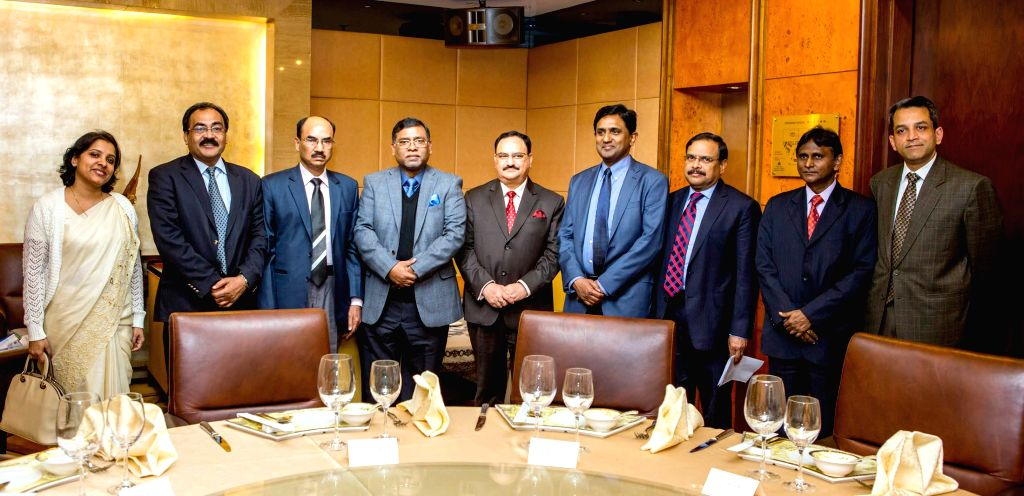 The Union Minister for Health and Family Welfare Jagat Prakash Nadda at a bilateral meeting with the Minister of State (Health), Bangladesh, Zahid Maleque on the sidelines of the 26th ...
