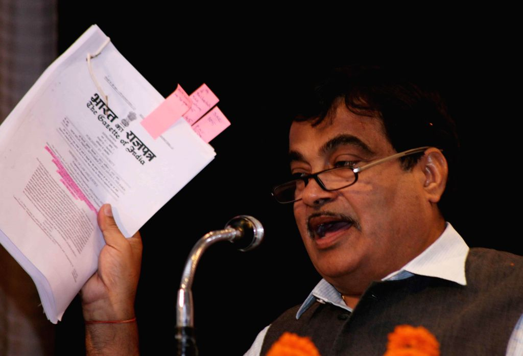 New Delhi:The Union Minister for Road Transport and Highways, and Shipping, Nitin Gadkari during a programme at the Constitution Club in New Delhi, on March 19, 2015.