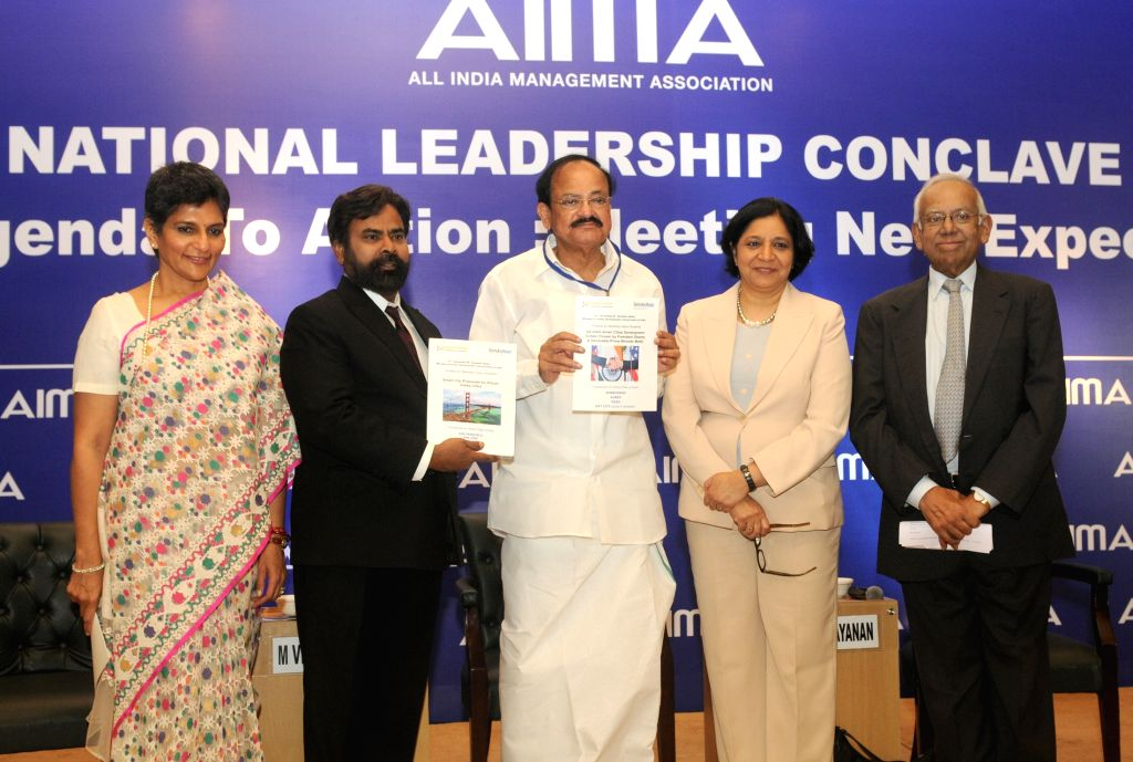 The Union Minister for Urban Development, Housing and Urban Poverty Alleviation and Parliamentary Affairs M. Venkaiah Naidu releases the report prepared by the UC Berkeley-Haas School of ... - M. Venkaiah Naidu