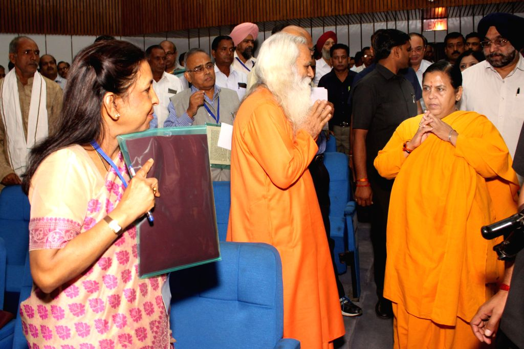The Union Minister for Water Resources, River Development and Ganga Rejuvenation, Uma Bharti at the inauguration of the National Convention of Water Users Associations in New Delhi, on Nov