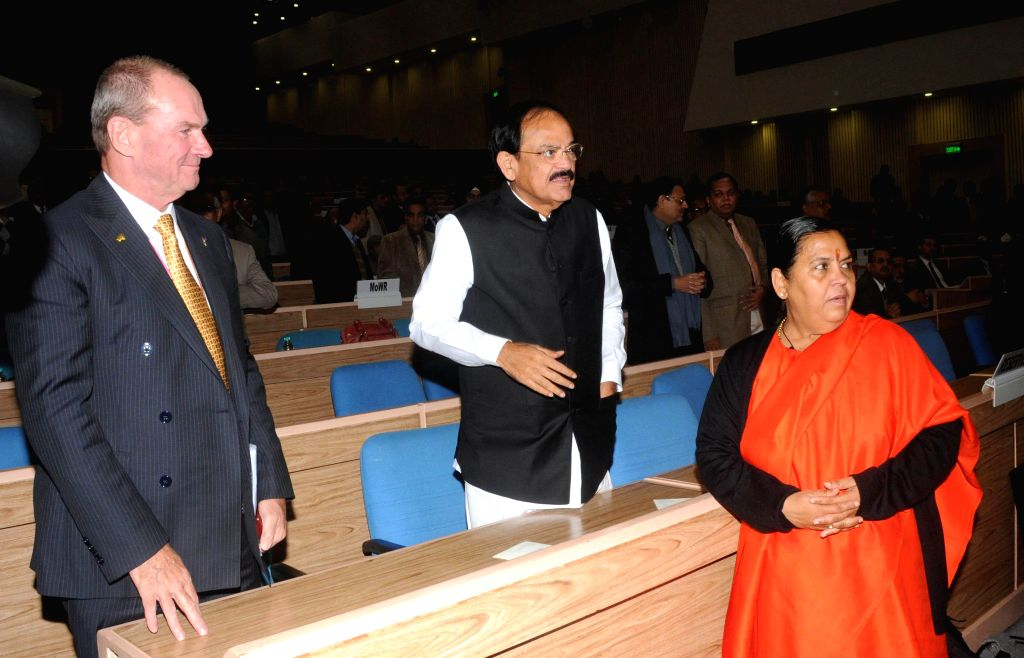 The Union Minister for Water Resources, River Development and Ganga Rejuvenation Uma Bharti, Union Minister for Urban Development, Housing and Urban Poverty Alleviation and Parliamentary .