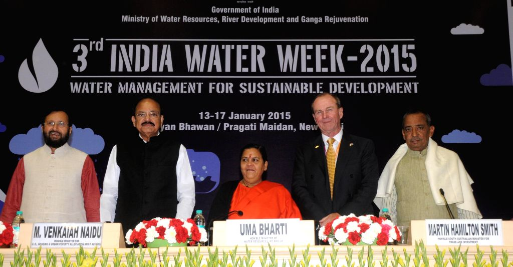 The Union Minister for Water Resources, River Development and Ganga Rejuvenation Uma Bharti, Union Minister for Urban Development, Housing and Urban Poverty Alleviation and Parliamentary . - M. Venkaiah Naidu