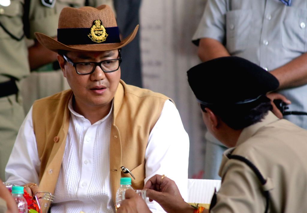 The Union Minister of State for Home Affairs Kiren Rijiju during the Induction Ceremony of Mi-17 V5 Helicopters into the BSF at Safdarjung Airport in New Delhi, on April 9, 2015.