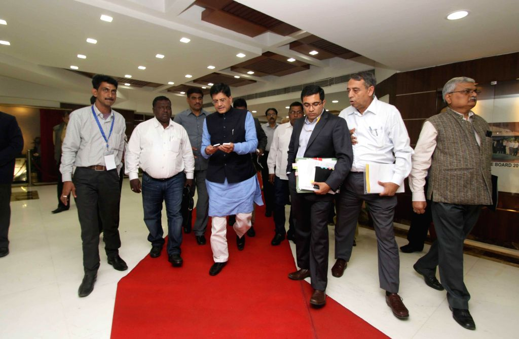 The Union Minister of State (Independent Charge) for Power, Coal and New and Renewable Energy Piyush Goyal after a meeting in New Delhi, on March 13, 2015.