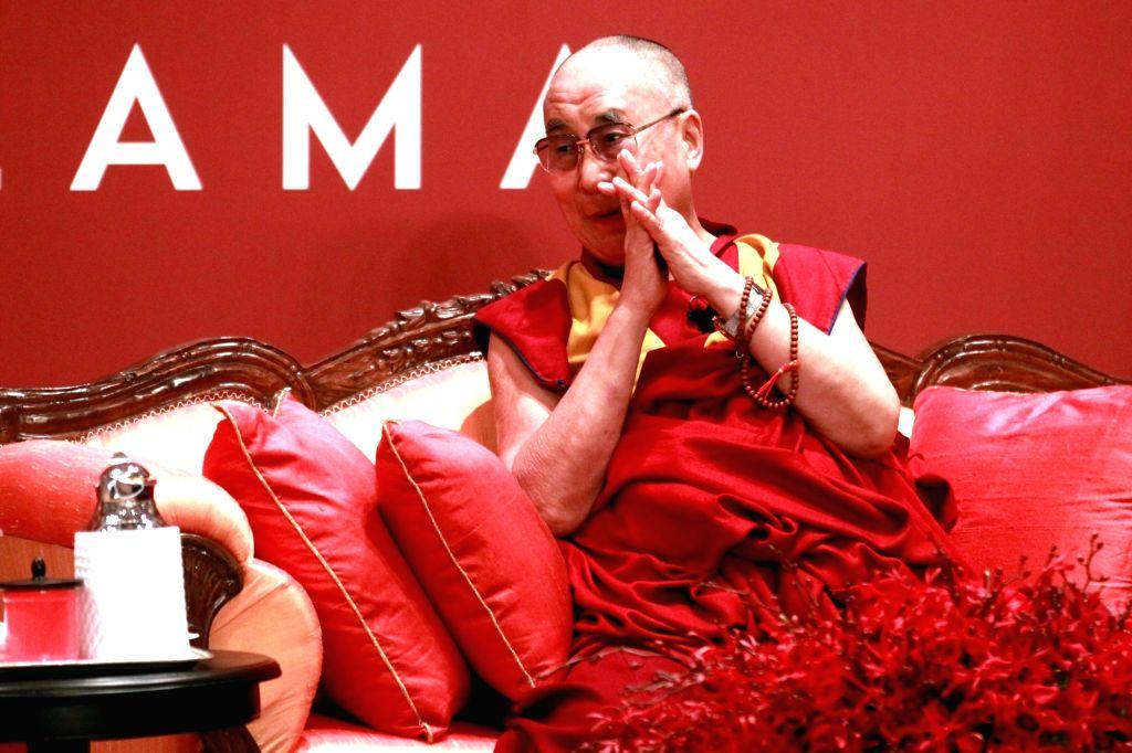 New Delhi: Tibetan Spiritual leader Dalai Lama during a programme in New Delhi, on Jan 4, 2016. (Photo: Amlan Paliwal/IANS)
