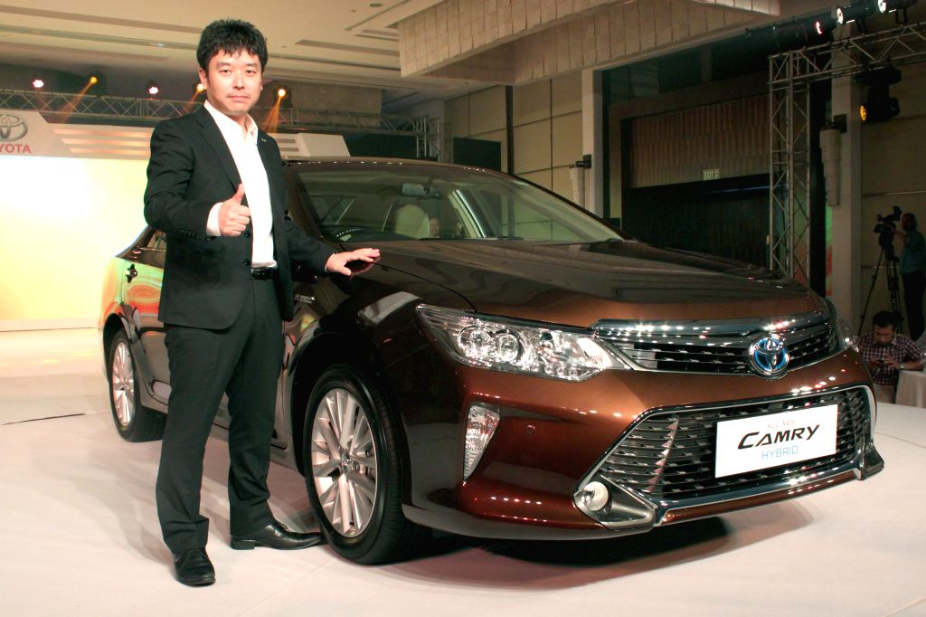Toyota Kirloskar Motor MD Naomi Ishii at the launch of the new Toyota Camry in New Delhi, on April 30, 2015.