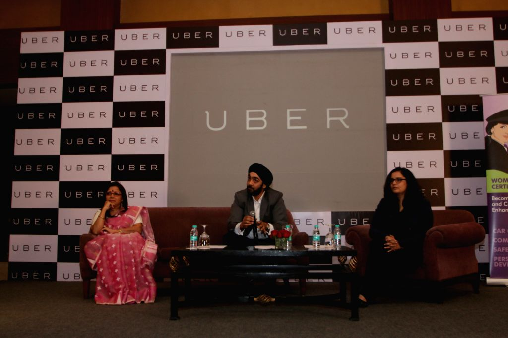 Uber Cabs' general manager in Delhi Gagan Bhatia during a press conference in New Delhi, on March 12, 2015.