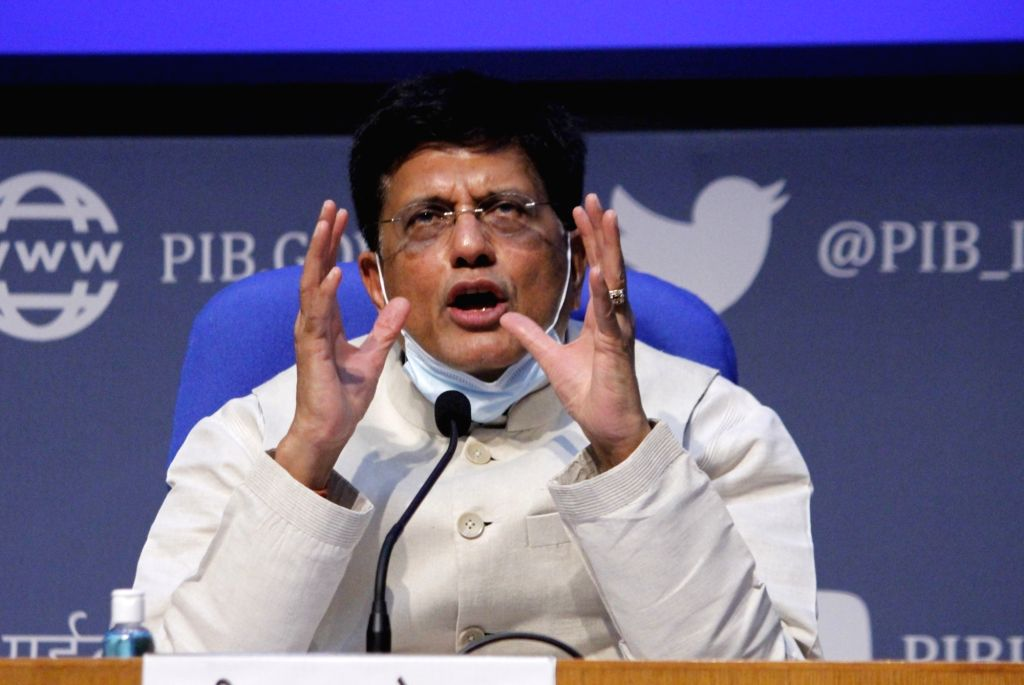 New Delhi: Union Commerce and Industry and Railways Minister Piyush Goyal briefs the media on various cabinet decisions, in New Delhi on Oct 7, 2020. (Photo: IANS) - Piyush Goyal