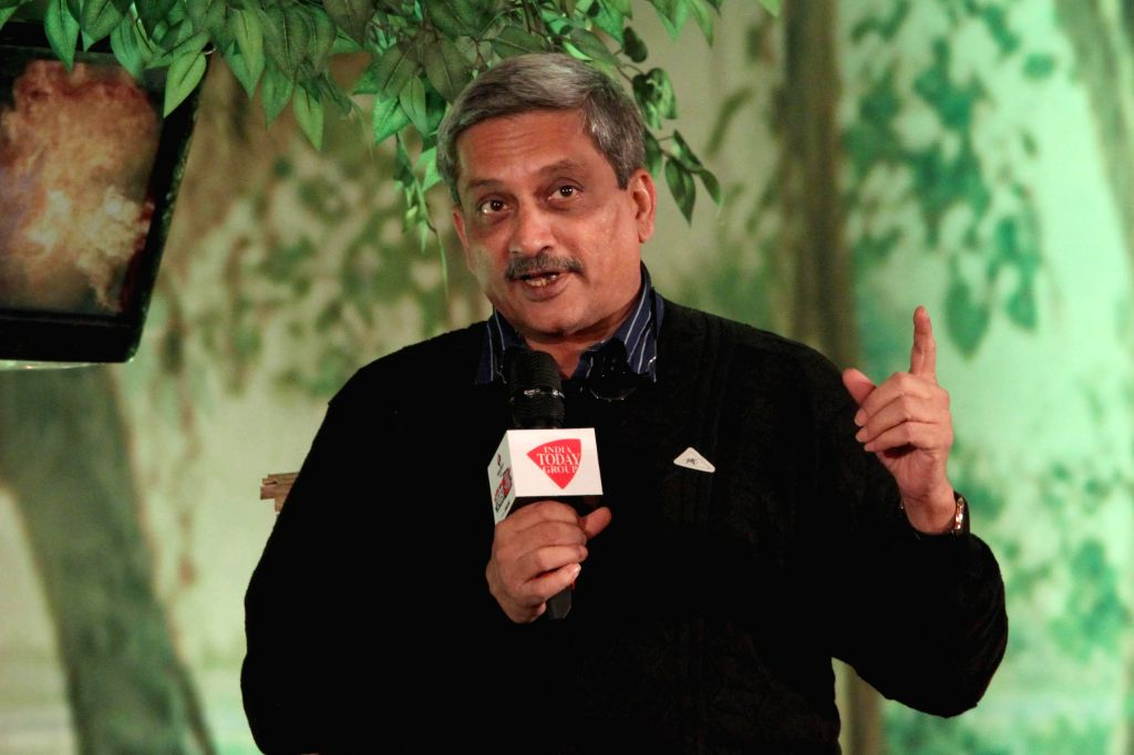 Union Defence Minister Manohar Parrikar during a programme organised by Aaj Tak in New Delhi, on Dec 12, 2014. ​ - Manohar Parrikar