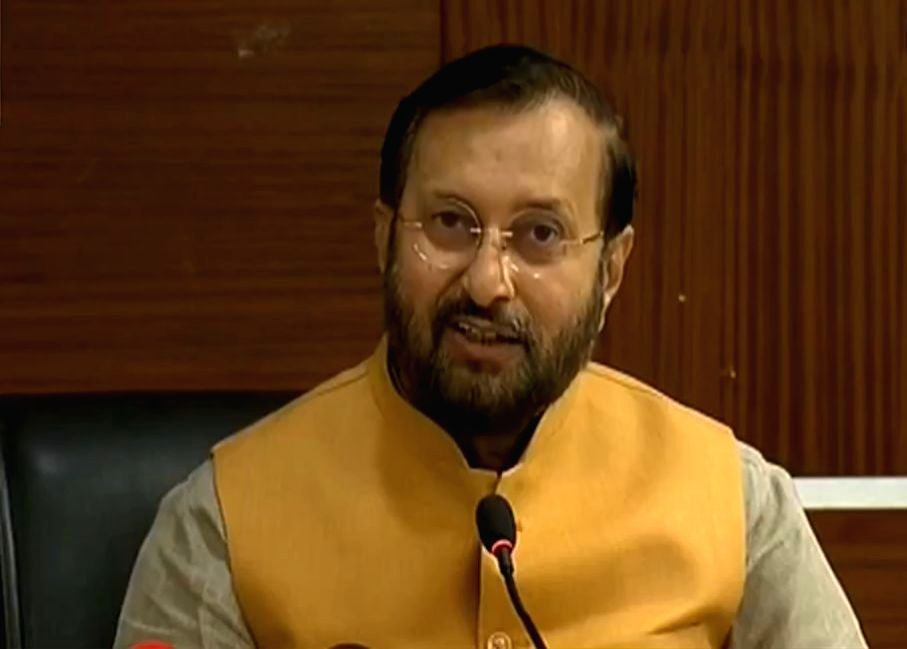 New Delhi: Union Environment, Forest and Climate Change Minister Prakash Javadekar addresses a press conference on various issues related to the Environment, in New Delhi on Oct 7, 2019. (Photo: IANS) - Prakash Javadekar