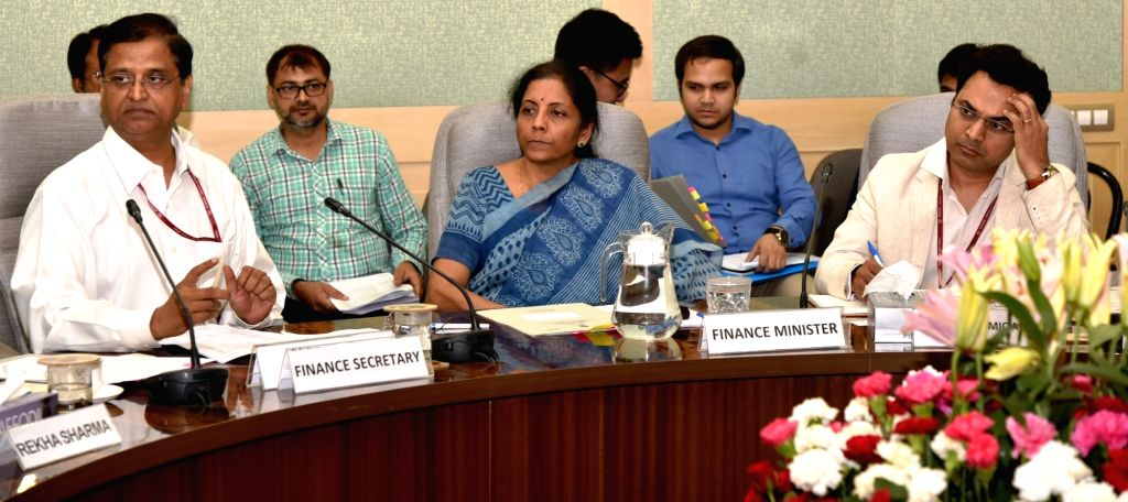 New Delhi: Union Finance and Corporate Affairs Minister Nirmala Sitharaman chairs Pre-Budget consultations with the representatives of Social Sector Groups in connection with the forthcoming General Budget 2019-20, in New Delhi on June 14, 2019. Also - Nirmala Sitharaman