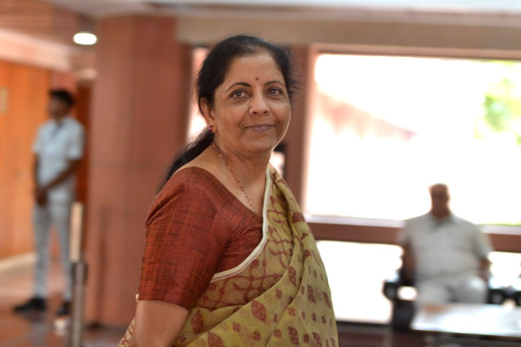 New Delhi: Union Finance and Corporate Affairs Minister Nirmala Sitharaman arrives to attend the two-day compulsory 'orientation programme 'Abhyas Varga' organised for all the newly-elected Members of Parliament of BJP in the Lok Sabha and Rajya Sabh - Nirmala Sitharaman