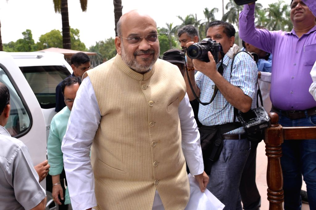 New Delhi: Union Home Minister Amit Shah at Parliament, in New Delhi on July 10, 2019. (Photo: IANS) - Amit Shah