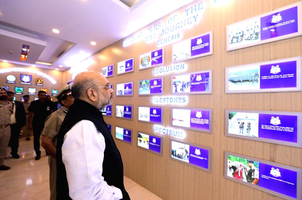 New Delhi: Union Home Minister Amit Shah during his visit to the CRPF headquarters in New Delhi on Nov 15, 2019. (Photo: IANS) - Amit Shah