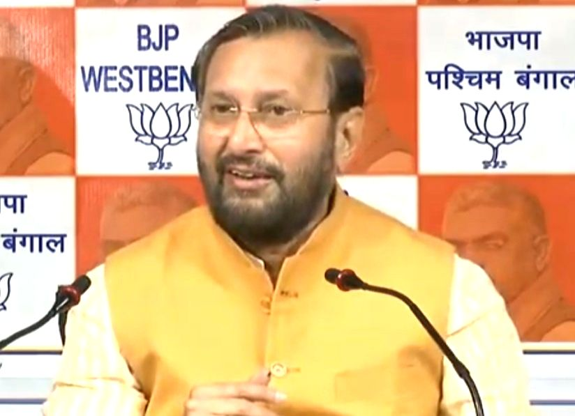 New Delhi: Union Minister and BJP leader Prakash Javadekar addresses a press conference in New Delhi, on Feb 4, 2019. (Photo: IANS/BJP)