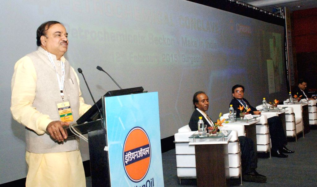 Union Minister for Chemicals and Fertilizers Ananth Kumar addresses at the 4th Petrochemical Conclave, in New Delhi on Feb 12, 2015. - Ananth Kumar