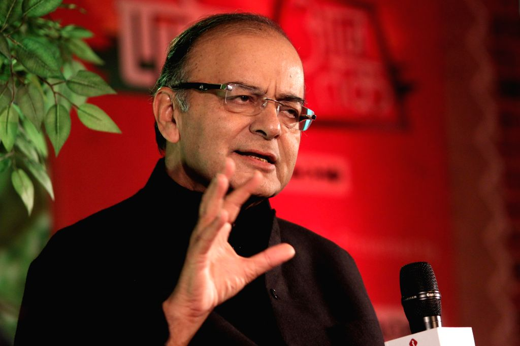 Union Minister for Finance, Corporate Affairs, and Information and Broadcasting Arun Jaitley during a programme organised by Aaj Tak in New Delhi, on Dec 12, 2014. ​ - Arun Jaitley