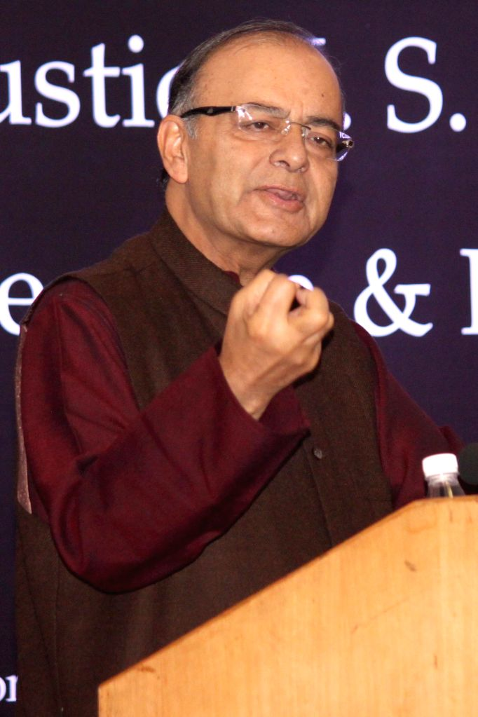 Union Minister for Finance, Corporate Affairs, and Information and Broadcasting Arun Jaitley addresses during the 1st Justice J. S. Verma Memorial lecture on `Freedom and Responsibility of - Arun Jaitley
