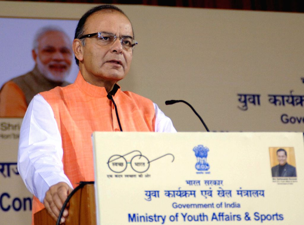 Union Minister for Finance, Corporate Affairs and Information and Broadcasting, Arun Jaitley addresses at the inauguration of the Conference of Ministers of States/UTs in-charge of Youth ... - Arun Jaitley