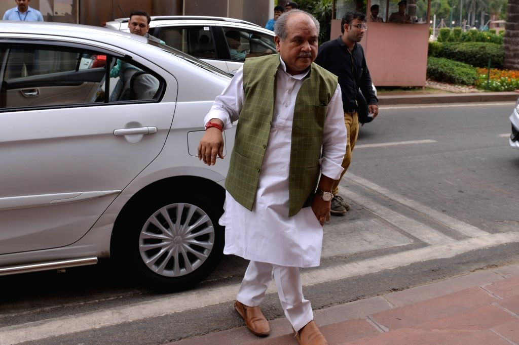 New Delhi: Union Minister Narendra Singh Tomar arrives at Parliament, in New Delhi on July 3, 2019. (Photo: IANS) - Narendra Singh Tomar