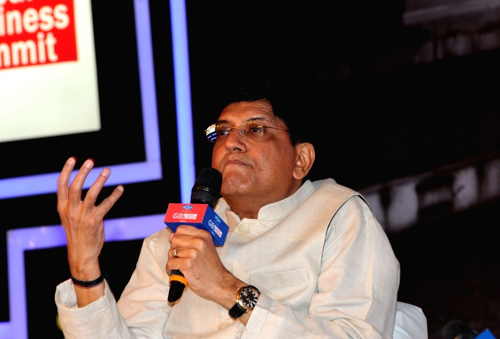 New Delhi: Union Railways Minister Piyush Goyal speaks at ET Global Business Summit 2019 in New Delhi on Feb 23, 2019. (Photo: IANS) - Piyush Goyal