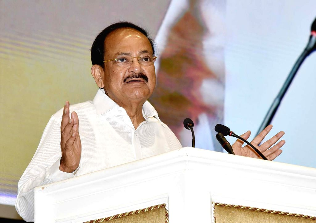 New Delhi: Vice President M. Venkaiah Naidu addresses at the Platinum Jubilee Celebrations of Institute of Chartered Accountants of India (ICAI), in New Delhi on July 01, 2019. (Photo: IANS/PIB) - M. Venkaiah Naidu