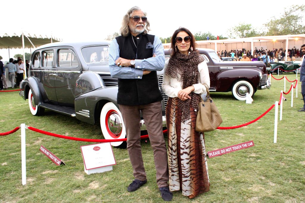 Vintage automobiles on display during an exhibition organised at Jaipur Polo Grounds in New Delhi, on March 14, 2015.