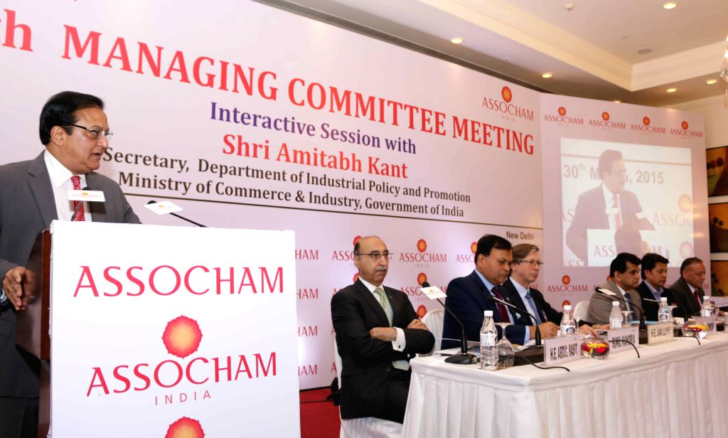 Yes Bank MD and CEO Rana Kapoor addresses at the 10th Managing Committee Meeting of the Associated Chambers of Commerce and Industry of India (ASSOCHAM) in New Delhi, on March 30, 2015. - Kapoor