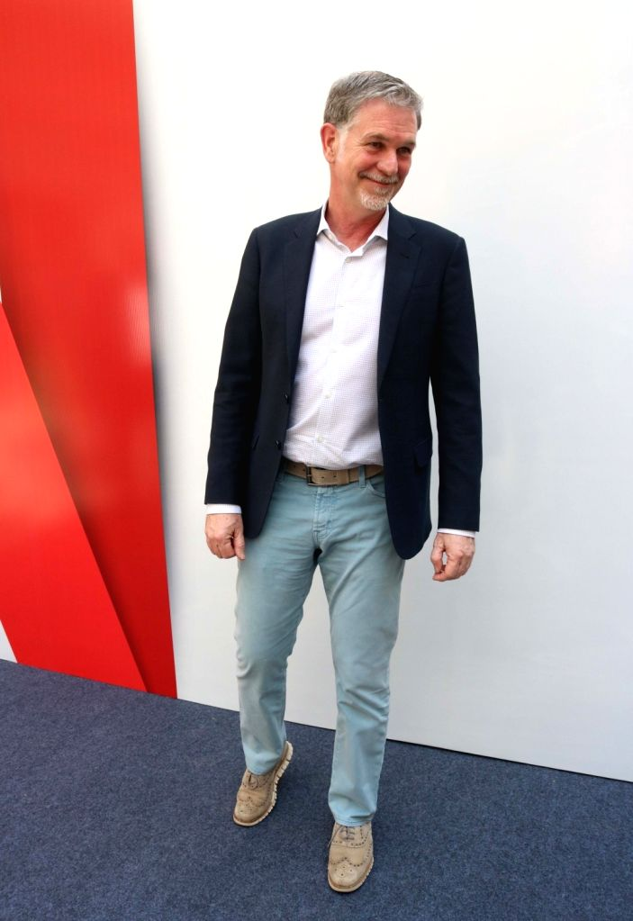 New Delhii: Netflix Co-founder and CEO Reed Hastings during a programme organised to announce Netflix's multi-platform partnership  in New Delhi on March 6, 2017.