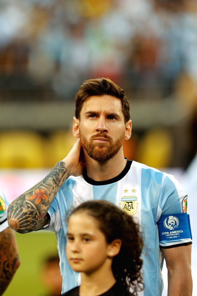NEW JERSEY, June 27, 2016 - Argentina's Lionel Messi looks on ahead of the 2016 Copa America Centenario soccer tournament Final at the Metlife Stadium in New Jersey, the United States on June 26, ...