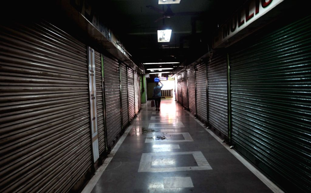 New Market remains closed as shopkeepers go on strike to protest against GST in Kolkata on June 30, 2017.