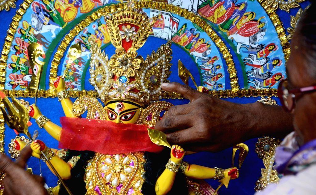 New normal: Kolkata's traditional Durga Pujas to restrict visitors. (Photo: Kuntal Chakrabarty/IANS)