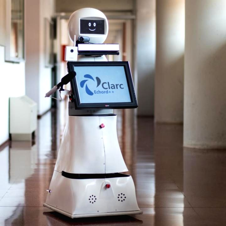 New telepresence robot helps Covid patients communicate with family.