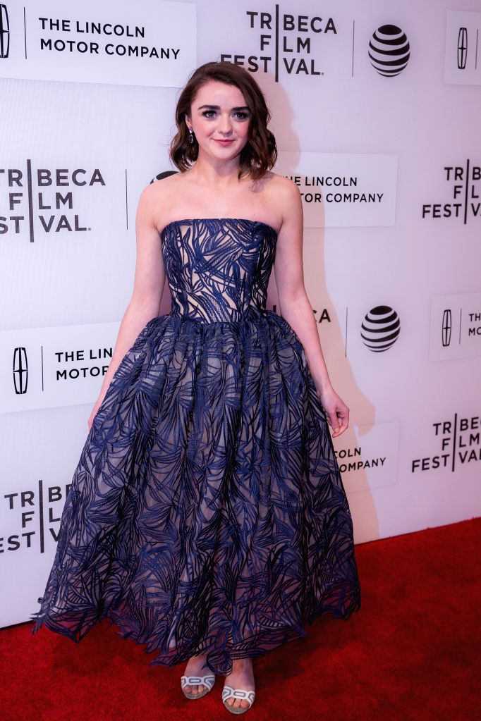 """NEW YORK, Apr. 15, 2016 - Actress Maisie Williams poses on the red carpet for the world premiere of the movie """"The Devil and the Deep Blue Sea"""" during the 2016 Tribeca Film Festival in New ... - Maisie Williams"""