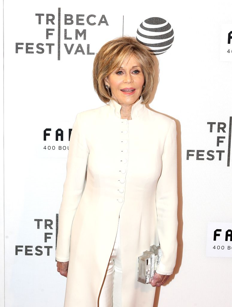 NEW YORK, April 14, 2016 - American actress Jane Fonda poses on the red carpet for the opening night of 2016 Tribeca Film Festival in New York, the United States on April 13, 2016. 2016 Tribeca Film ... - Jane Fonda