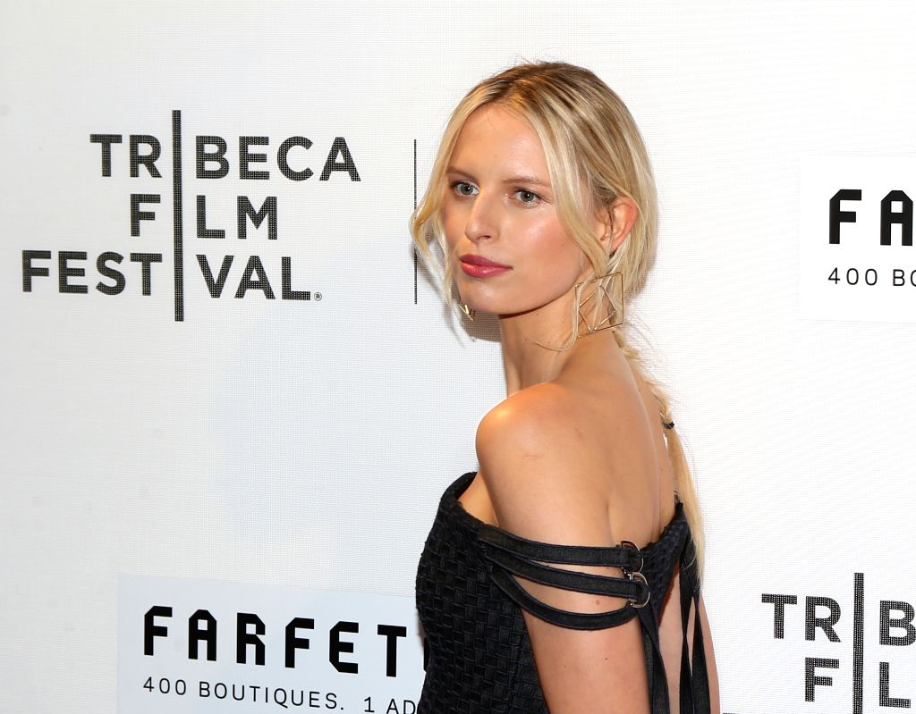 NEW YORK, April 14, 2016 - Model Karolina Kuikova poses on the red carpet for the opening night of 2016 Tribeca Film Festival in New York, the United States on April 13, 2016. 2016 Tribeca Film ... - Karolina Kuikova