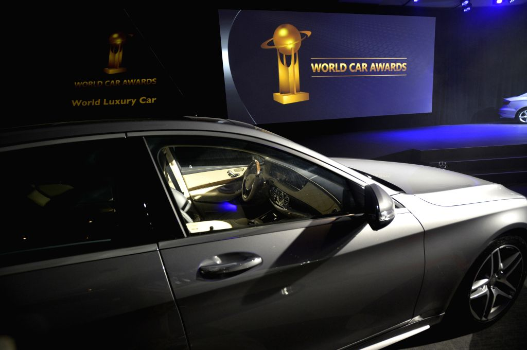 A Mercedes-Benz S-Class car is seen at the 2014 World Car Awards (WCAs) prize-giving ceremony at the 2014 New York International Auto Show (NYIAS) in New York, ...