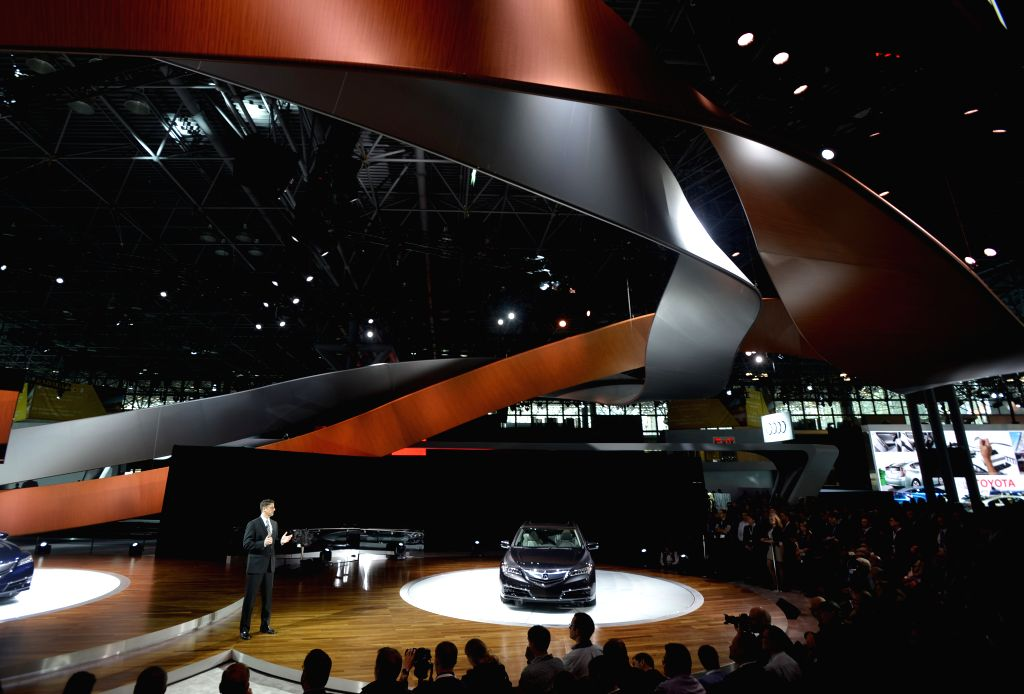 An Acura RLX Concept car is displayed on the press day of the 2014 New York International Auto Show in New York, the United States, April 16, 2014. Concept cars ..