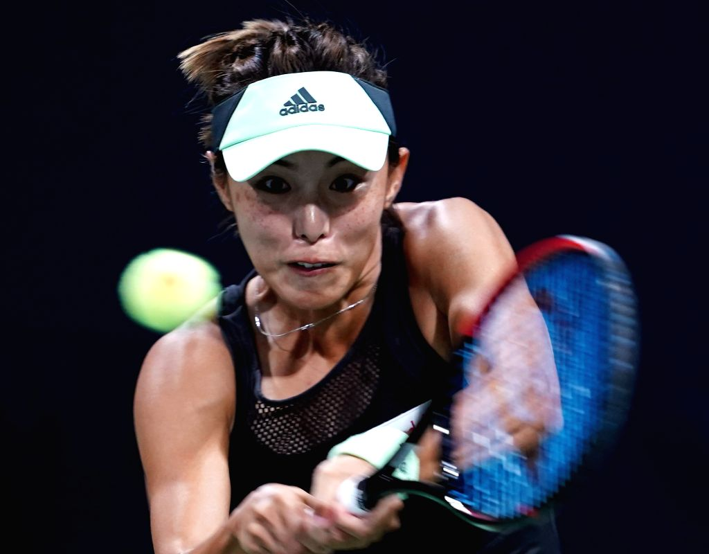 NEW YORK, Aug. 27, 2019 - Wang Qiang of China hits a return during the women's singles first round match between Caroline Dolehide of the United States and Wang Qiang of China at the 2019 US Open in ...
