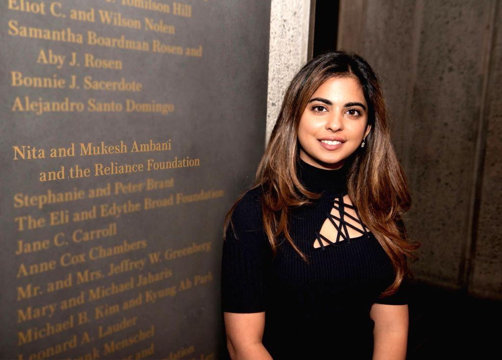 New York: Business tycoon Mukesh and Nita Ambani's daughter Isha Ambani at the Metropolitan Museum of Art in New York, where Reliance Foundation is supporting exhibition of Indian Art. - Nita Ambani and Isha Ambani