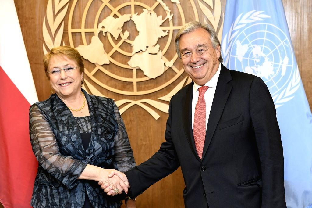 New York City: The United Nations General Assembly approved the appointment of former Chilean President Michelle Bachelet as the High Commissioner for Human Rights in New York City, US on Aug. 10, ...