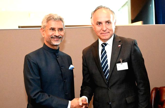 New York: External Affairs Minister S. Jaishankar meets his Chilean counterpart Teodoro Ribera, in New York on Sep 27, 2019. - S. Jaishankar