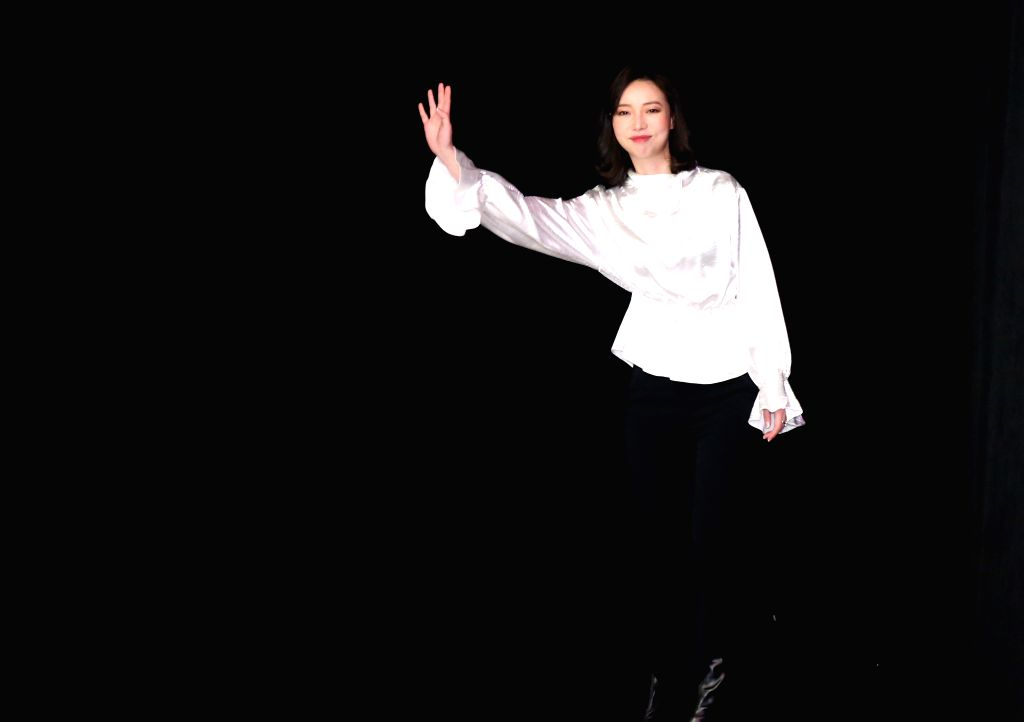 NEW YORK, Feb. 14, 2019 - Designer Vivienne Hu greets the audience after presenting her Vivienne Hu Fall/Winter 2019 collection during the New York Fashion Week in New York, the United States, Feb. ...