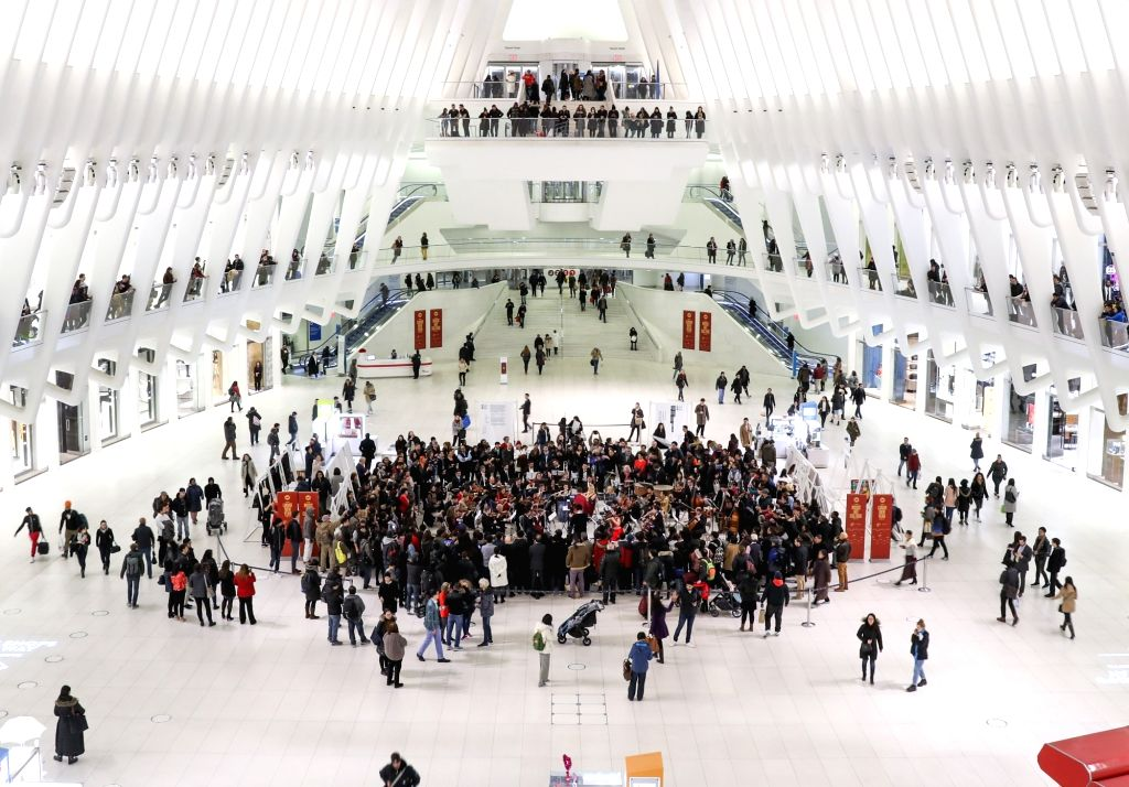 NEW YORK, Feb. 17, 2019 - A symphony concert is held to celebrate Chinese Lunar New Year at the Oculus of the World Trade Center in New York, the United States on Feb. 8, 2019. With China in festive ...