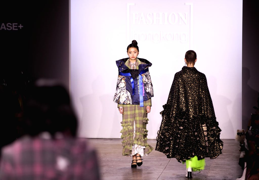 NEW YORK, Feb. 8, 2019 - Models present creations of HEAVEN PLEASE+ during the Fashion Hong Kong show in New York, the United States, on Feb. 8, 2019. The show included creations of three brands ...